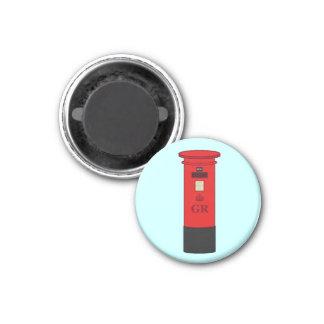 Caja británica del poste iman