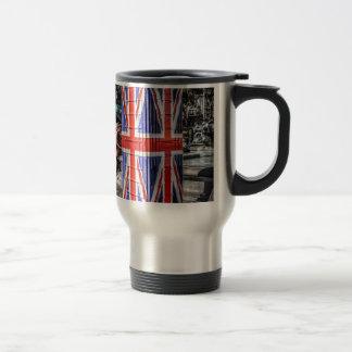 Caja británica del teléfono de la bandera de Union Tazas De Café