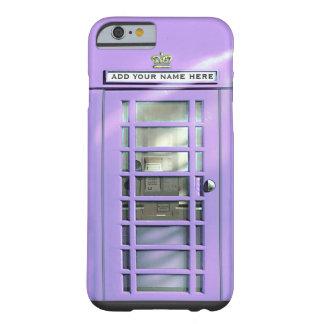 Caja británica del teléfono de la lila divertida funda de iPhone 6 barely there