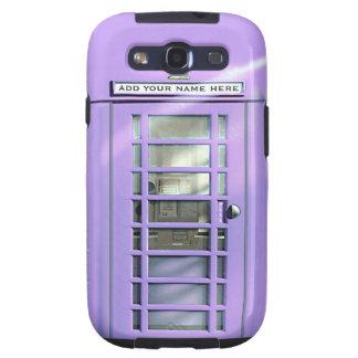 Caja británica del teléfono de la lila divertida p samsung galaxy s3 carcasas