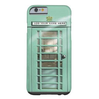 Caja británica del teléfono de la verde menta funda de iPhone 6 barely there