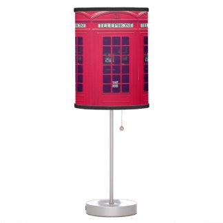 Caja británica original del teléfono lámpara de mesilla de noche