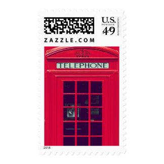 Caja británica original del teléfono franqueo