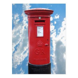 Caja británica roja del poste tarjetas postales