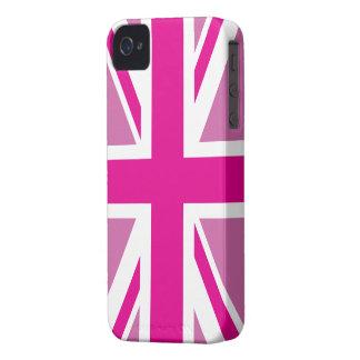 Caja británica rosada de la bandera de Union Jack iPhone 4 Cobertura