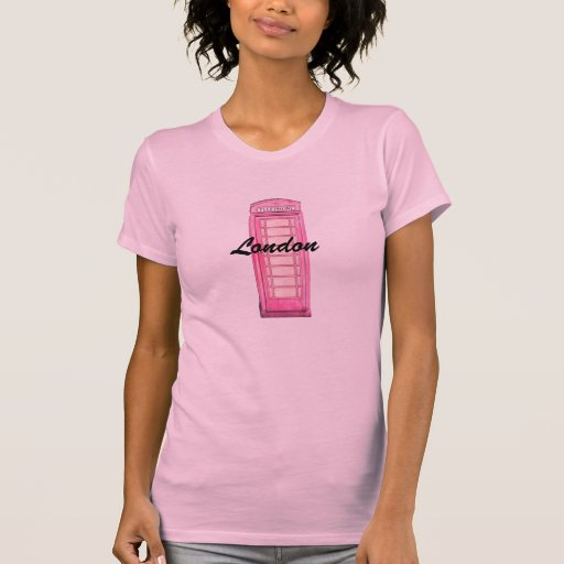 Caja británica rosada del teléfono - Londres Playera