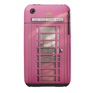 Caja británica rosada femenina divertida del Case-Mate iPhone 3 cárcasas
