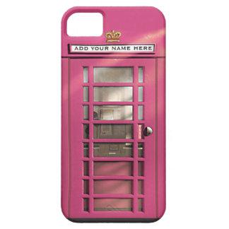 Caja británica rosada femenina divertida del iPhone 5 Case-Mate protectores