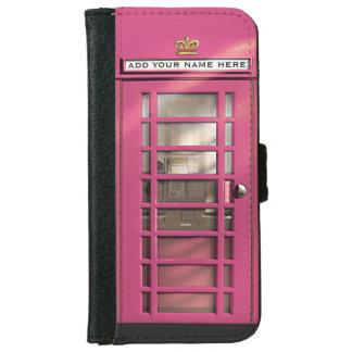 Caja británica rosada femenina divertida del carcasa de iPhone 6