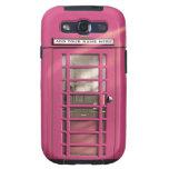 Caja británica rosada femenina divertida del teléf samsung galaxy s3 coberturas