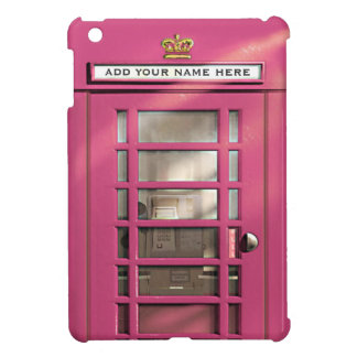 Caja británica rosada femenina divertida del teléf iPad mini cobertura