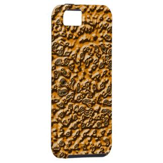 Caja bronceada del teléfono móvil del efecto iPhone 5 fundas