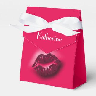 caja caliente del favor del smooch caja para regalo de boda