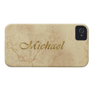 Caja calificada nombre del teléfono de MICHAEL iPhone 4 Carcasas
