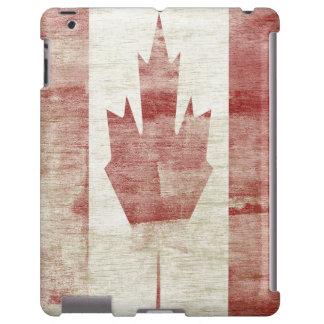 Caja canadiense apenada del iPad de la bandera