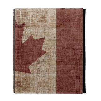 Caja canadiense de la bandera del Grunge