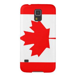 Caja canadiense del teléfono de la bandera carcasas de galaxy s5