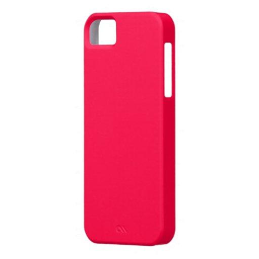 Caja carmesí eléctrica del iPhone 5 de la cubierta iPhone 5 Funda