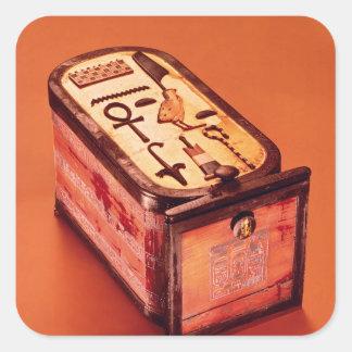 caja Cartouche-formada Pegatina Cuadrada