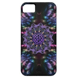 Caja céltica de la mandala de la flor del fractal iPhone 5 Case-Mate protector