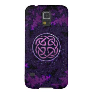 Caja céltica púrpura de la galaxia S5 de Samsung Carcasas Para Galaxy S5