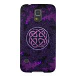 Caja céltica púrpura de la galaxia S5 de Samsung d Fundas Para Galaxy S5