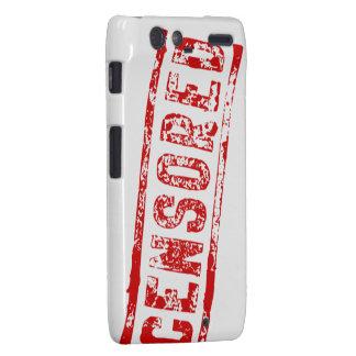 Caja censurada del teléfono de la maquinilla de af motorola droid RAZR carcasa