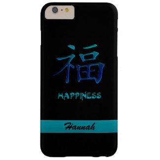 Caja china azul ciánica del iPhone 6 del kanji de Funda Barely There iPhone 6 Plus