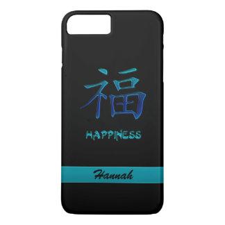 Caja china azul ciánica del iPhone 7 del kanji de Funda iPhone 7 Plus