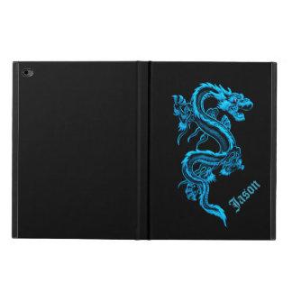 Caja china azul del aire 2 del iPad del dragón