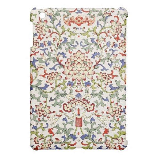 Caja china floral de la mota del iPad del ornament