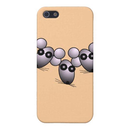 Caja ciega de la mota de tres ratones iPhone 5 coberturas