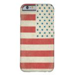 Caja civil de la bandera del vintage americano funda de iPhone 6 slim
