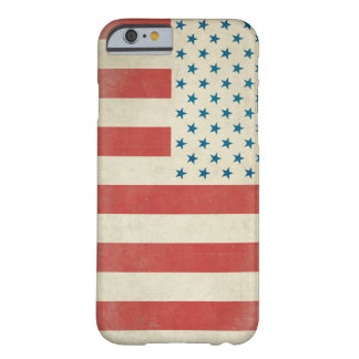 Caja civil de la bandera del vintage americano funda barely there iPhone 6