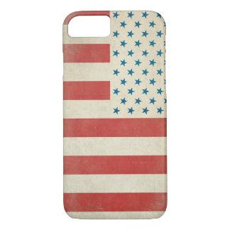 Caja civil de la bandera del vintage americano funda iPhone 7
