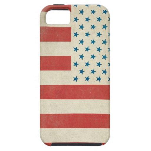 Caja civil de la casamata de la bandera del vintag iPhone 5 carcasa