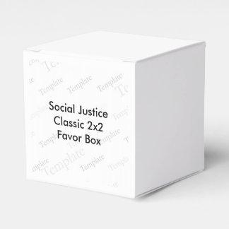 Caja clásica del favor 2x2 de la justicia social cajas para detalles de boda