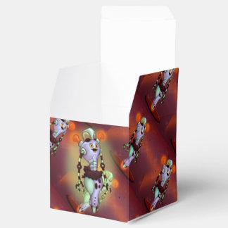 Caja clásica del favor 2x2 del ROBOT LINDO del Caja Para Regalo De Boda