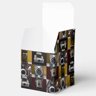 Caja clásica del favor del collage de la cámara cajas para regalos de fiestas