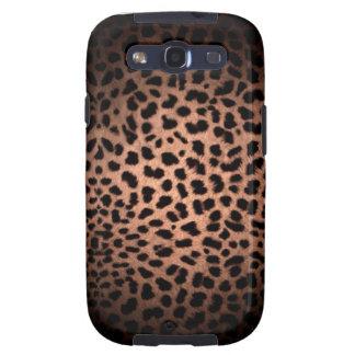Caja clásica del teléfono del estampado leopardo d galaxy s3 fundas