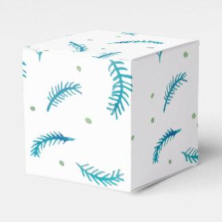 Caja clásica pintada del favor de los helechos caja para regalo de boda