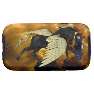 Caja coa alas de oro de la galaxia de Pegaso Samsung Galaxy S3 Funda