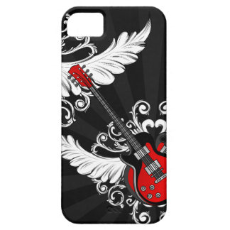 Caja coa alas vintage de las guitarras iPhone5 del Funda Para iPhone 5 Barely There