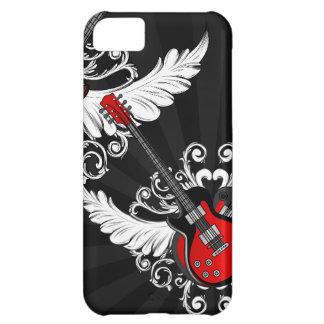 Caja coa alas vintage de las guitarras iPhone5 del