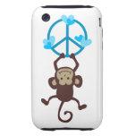 Caja colgante adorable del teléfono del mono de la iPhone 3 tough cobertura