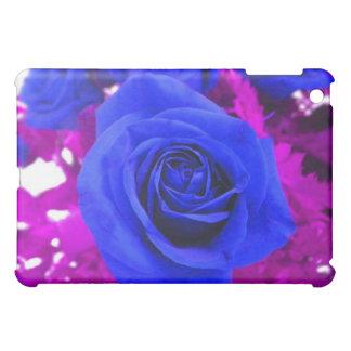Caja color de rosa azul del iPad