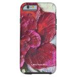 Caja color de rosa de color rojo oscuro del iPhone Funda De iPhone 6 Tough