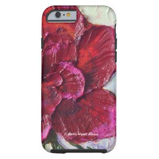 Caja color de rosa de color rojo oscuro del iPhone Funda Para iPhone 6 Tough