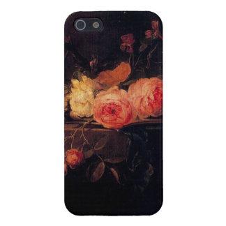 Caja color de rosa de Iphone 5 de la Aún-Vida iPhone 5 Fundas