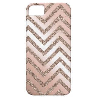 Caja color de rosa del galón del brillo del oro iPhone 5 carcasa